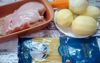 Детский суп с осьминожками
