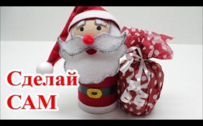 Как Сделать Деда Мороза из Пластиковой Бутылки