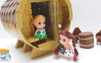 Как Сделать Своими Руками Кукольный Дом для Девочек — Мастер Класс