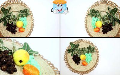 Тарелка с Фруктами из Джута Поделки Своими Руками Декор Кухни