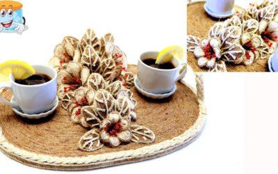 Поделки Своими Руками В Подарок Поднос для Кофе из Джута