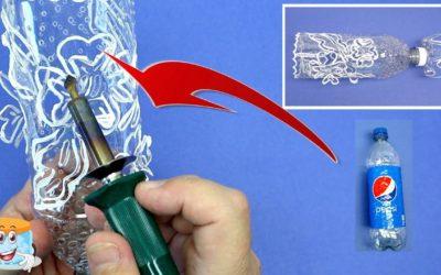 Как Вырезать Вазу из Пластиковой Бутылки Своими Руками