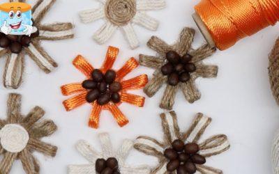 Очень Простые Цветы из Джута Для Домашнего Декора Своими Руками