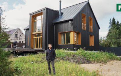 Чёрно-горчичный дом вместо трехкомнатной квартиры // FORUMHOUSE // FORUMHOUSE