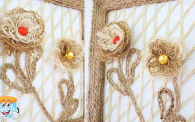 Идея Декора Своими Руками из Джута в Подарок Jute Rope Craft