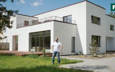 Современный дом с плоской кровлей для растущей семьи // FORUMHOUSE