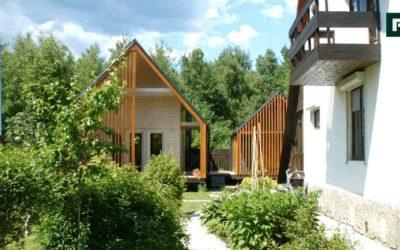 Комплекс с домом-баней и мастерской в стиле барнхаус // FORUMHOUSE