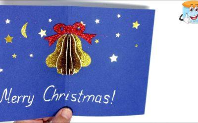Новогодние Открытки Своими Руками Рождественский Колокольчик