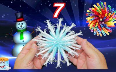 7 Интересных Идей для Новогодних Снежинок — Поделки Самоделки