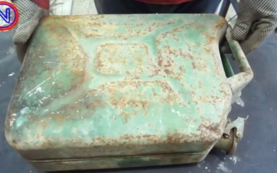 Переносная чудо печь из старой канистры своими руками