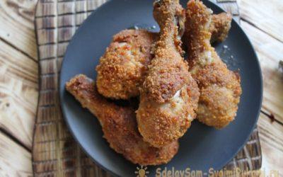 Куриные ножки в хрустящей панировке «Как в KFC»