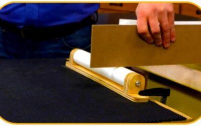 Самодельная роликовая подставка для стола циркулярной пилы